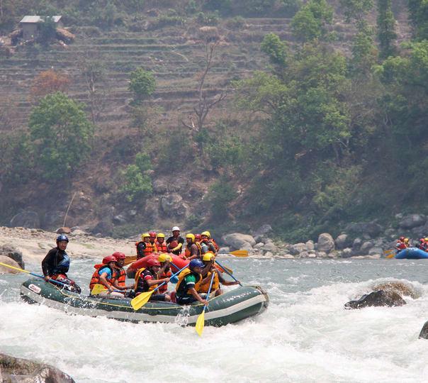 Rafting at Charaudi in Nepal
