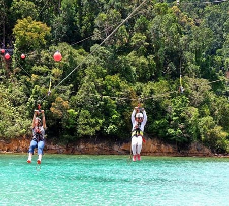 Coral Flyer Zipline Experience and Sapi Island Snorkeling in Kota Kinabalu