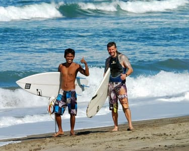 Surfing at Canggu in Bali