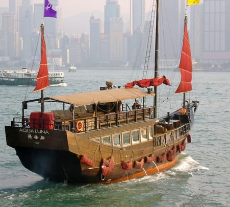 Junk Boat Party at Quarry Bay in Hong Kong