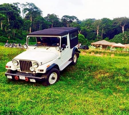 Jeep Drive to Kabbe Hills In Coorg