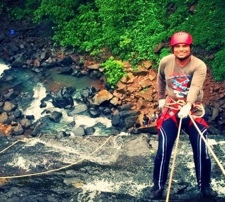Waterfall Rappelling and Flying Fox at Vihigaon