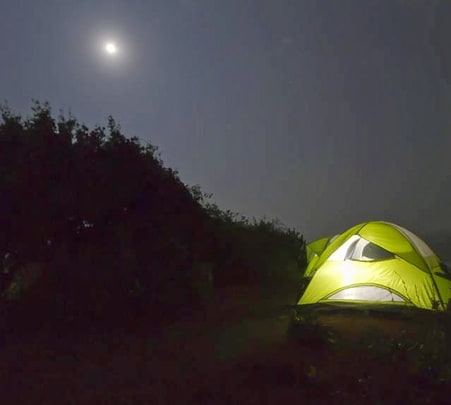 Camping at Kashid Beach