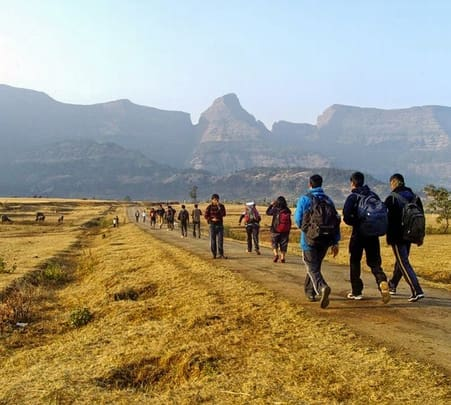Trek to Alang, Madan and Kulang in Nashik