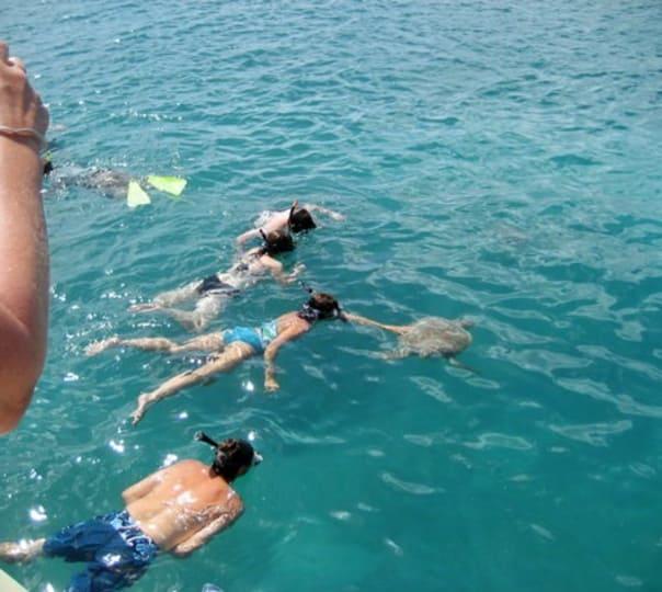 Sea Swimming Trip from San Jacinto Island to Siridao