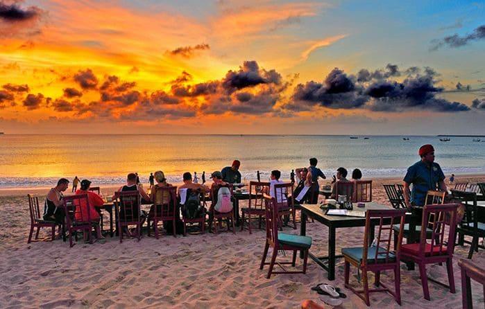 Dinner by the Sunset at Jimbaran Beach