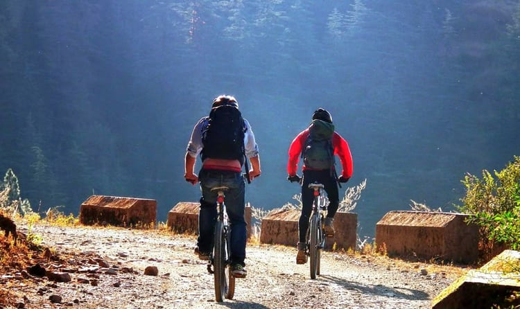Cycling in Shimla Water Catchment Wildlife Sanctuary
