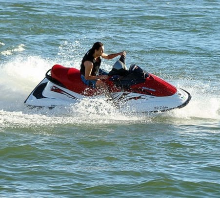 Jet Skiing at Majorda Beach in Goa