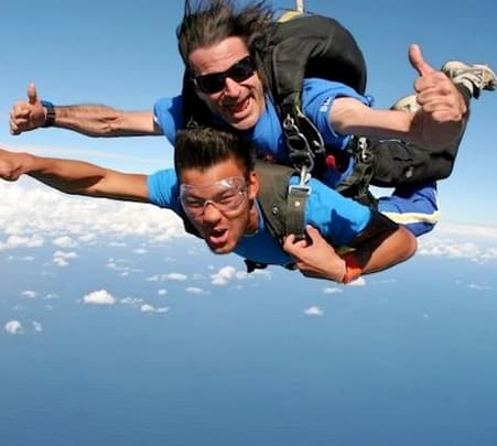Skydiving at Byron Bay in Australia