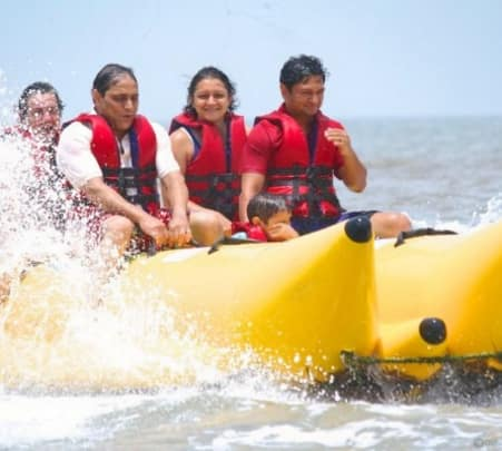 Banana Boat Ride on Mandwa Beach near Mumbai