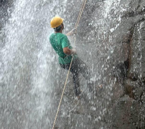 Waterfall Rappelling at Kasara