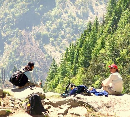 Trek to the Marhi Town in Himachal Pradesh