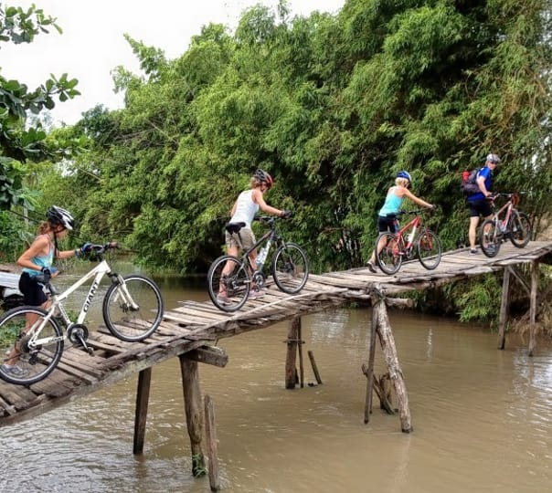 Mekong Cai Be Floating Market Sightseeing Tour with Cycling and Cooking