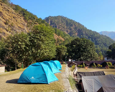 Camping on Banks of Ganga, Rishikesh with Rock Climbing and Rappeling