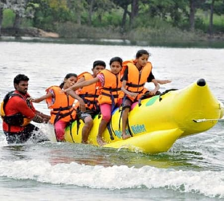 Banana Boat Ride near Kundalika River