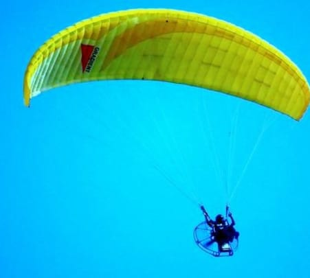 Paragliding at Traveller's Paradise Resort, Naukuchiatal