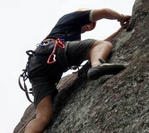 Rock Climbing at Bambarakanda in Sri Lanka