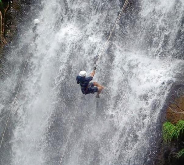 Waterfall Rappelling at Dodhani Waterfalls