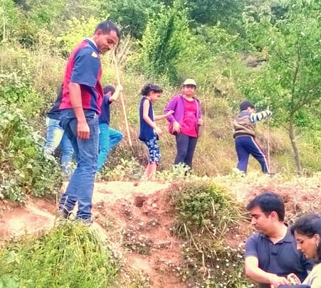 Outing at Hermitage in Kanatal