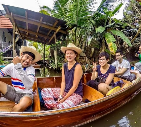Biking near Floating Markets in Bangkok