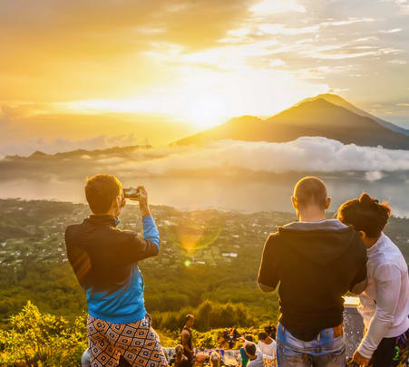 Combo: Mount Batur Trekking with Jungle Swing at Bali Flat 10% off