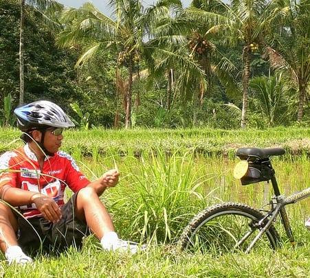 Cycling in Kintamani Bali