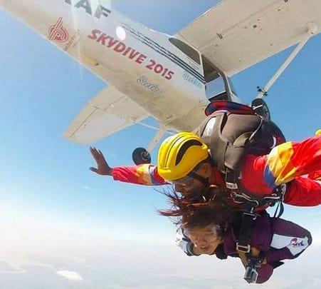 Line Static Skydiving at Kuala Lumpur