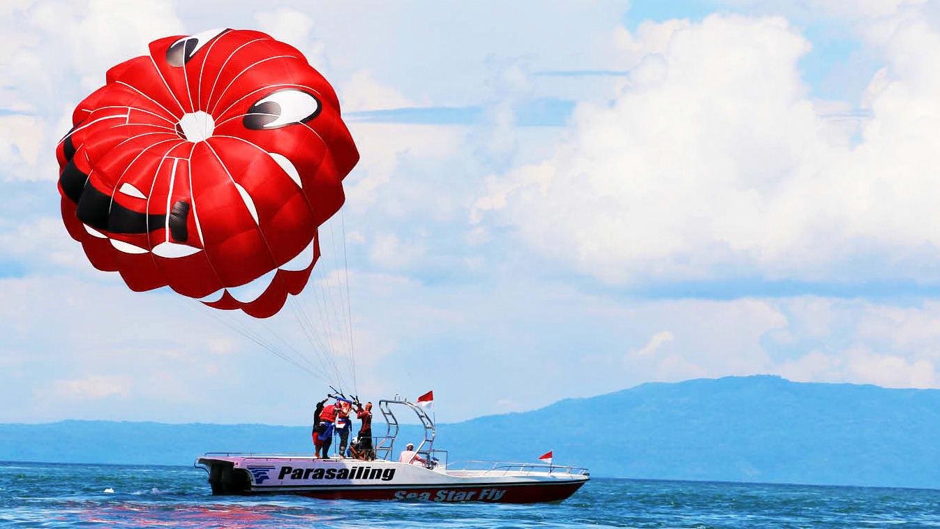 Go Parasailing at Tanjung Benoa Beach