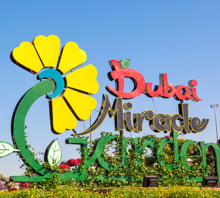 Trip to Dubai Miracle Garden Flat 10% off