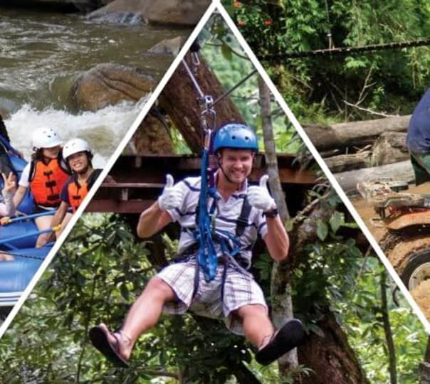 Zip-lining, Atv Ride and Rafting in Chiang Mai