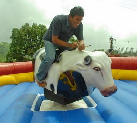 Mechanical Bull Ride in Coorg