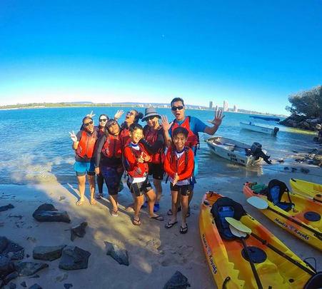 Kayak Tour to South Straddie and Wavebreak Island in Goldcoast