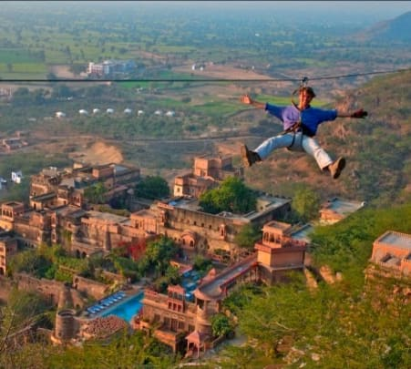 Neemrana Flying Fox Adventure, Rajasthan